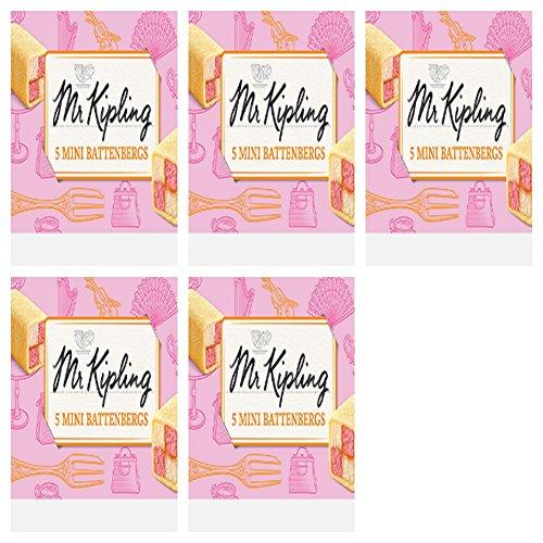 Mr Kipling 5 Mini Battenberg X 5 Packs Free Shipping