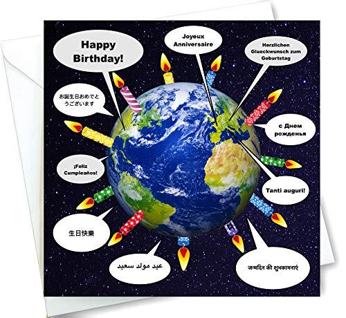 - Talking Happy Birthday Card In 10 Languages - Around the World