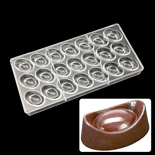 Polycarbonate Chocolate - 21 Cups Food Grade Chinese Ancient Money Ingots Shaped Clear Polycarbonate Chocolate Pc Mold Diy - Dome Egg Assorted Mold Bar Daddios Heart Magnetic Christmas Molds