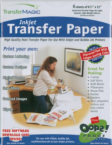 Photo Effects Ink Jet Transfer Paper - 8-1/2 Inch x11 Inch 6/Pkg