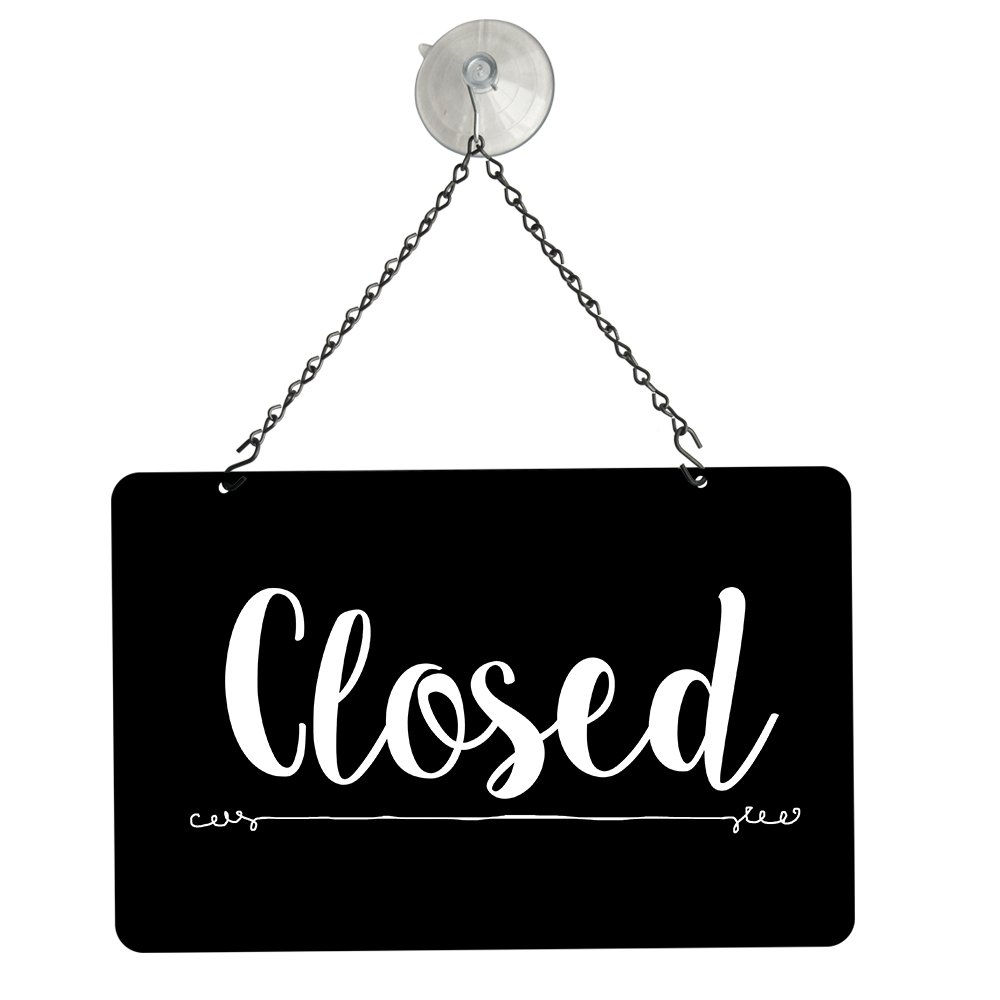 Amazon.com: nahanco nmskbo negro abierto/cerrado metal sign ...