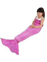 Winter Warm Handmade Crochet Knitted Mermaid Tail Blanket