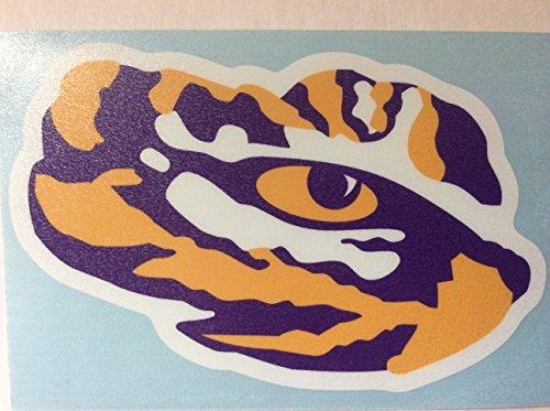 LSU Tigers, Large Tiger Eye, Premium Decal, CORNHOLE - Lsu Tigers Vinyl