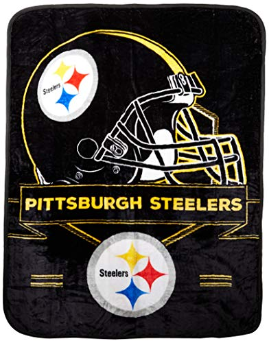 The Northwest Company NFL Pittsburgh Steelers Prestige Plush Raschel Blanket, 60
