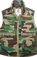 8555	Woodland Camo Ranger Vest (Medium)