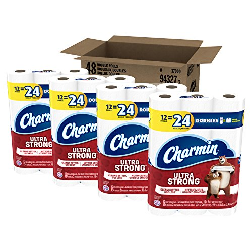 Price comparison product image Charmin Ultra Strong Toilet Paper, Bath Tissue, Double Roll, 48 Count