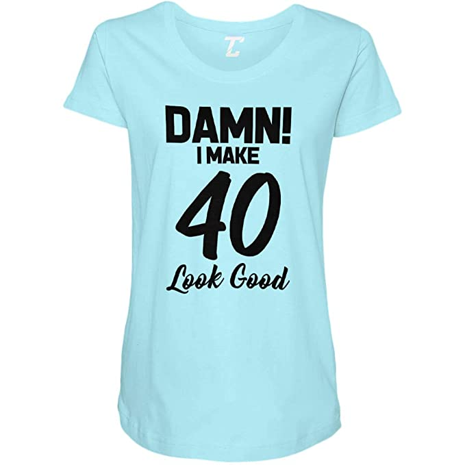 af74f05327 I Make 40 Look Good - Birthday Side Ruched Maternity T-Shirt at Amazon Women's  Clothing store: