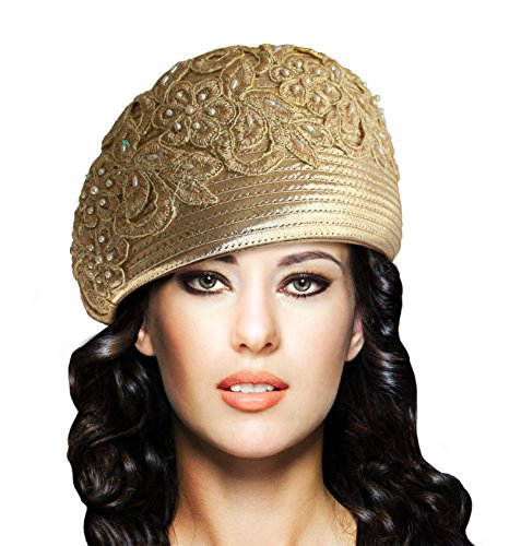 Mr. Song Millinery Beret Cloche Hat With Premium Lace - Q62
