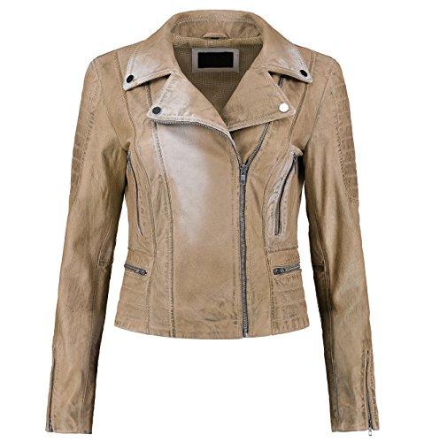 Ladies Leather Bike Jacket - 7