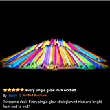 "Glow Sticks Bulk Party Favors 100pk - 8"" Glow in the Dark Party Supplies Light Sticks, Stocking Stuffers, Glow Necklaces and Bracelets for Kids"