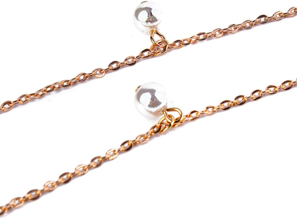 LJSLYJ Simulated Pearl Pendant Ankle Bracelet Beach Anklets Foot Jewelry for Women Foot Accessories