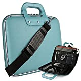 Cady Messenger Cube JET BLACK Ultra Durable Leatherette Bag Case fits Samsung ATIV Book 9: Spin, Plus, & Lite Series 13