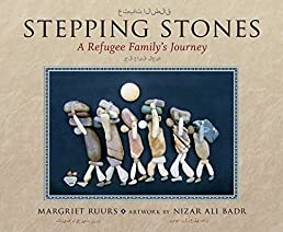 Stepping Stones: A Refugee Family's Journey (Arabic and English Edition)