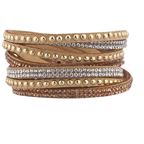 Lux Accessories Tan Gold...