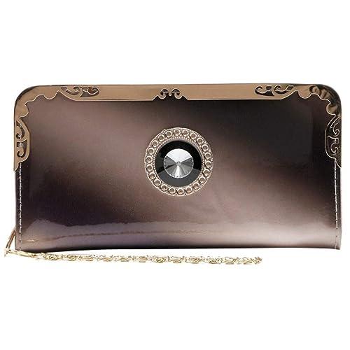 Amazon.com: Novelty Mens Wallet,Fashion Women Long Patent ...