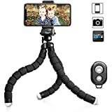 UBeesize Tripod S, Premium Phone Tripod, Flexible Tripod Wireless Remote Shutter, Compatible iPhone/Android Samsung, Mini Tripod Stand Holder Camera GoPro/Mobile Cell Phone (Upgraded)