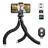 UBeesize Tripod S, Premium Phone Tripod, Flexible Tripod with Wireless Remote Shutter for iPhone & Android Samsung, Mini Tripod Stand Holder for Camera GoPro and Mobile Cell Phone (Upgraded)