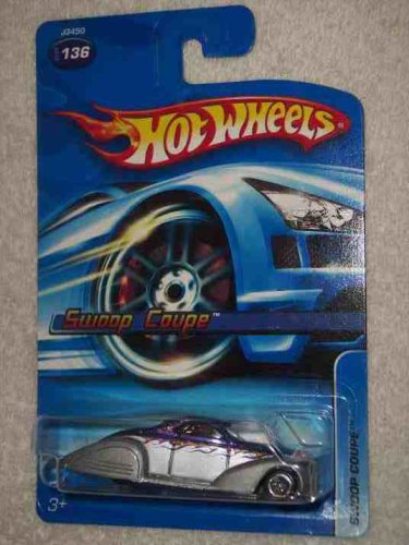 Hot Wheels #2006-136 Swoop Coupe Purple and Silver 5-Spoke Wheel Collectible Collector Car Mattel 1:64 Scale