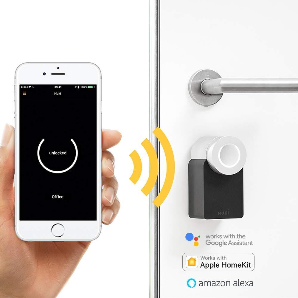 Nuki Smart Lock 2.0 - Cerradura inteligente vía Bluetooth, incluye sensor de puerta, para iPhone y Android, Smart Home: Amazon.es: Bricolaje y herramientas