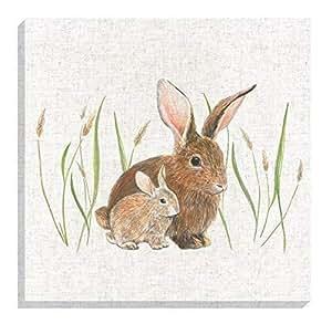 """Evans Lichfield rurales conejo beige lino lienzo 40cm-16"""""""
