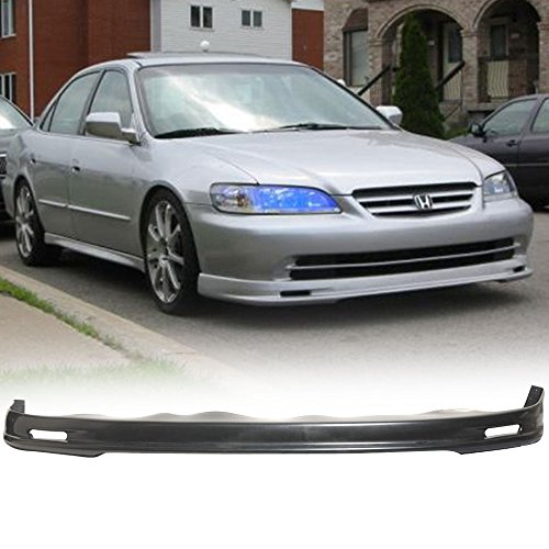 Front Bumper Lip Fits 1998-2002 Honda Accord 4 Door Sedan Model Black Spoiler Splitter Valance Fascia Cover Guard Protection Conversion PP by IKONMOTORSPORTS | 1999 2000 2001 ()