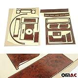 OMAC USA Car Interior Accessories Decoration Dashboard Trim Kit Cover 18 Pcs. Walnut Wooden Look for Mercedes Sprinter W906 2006-