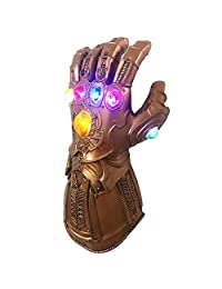 Thanos Infinity Gauntlet LED Light Up PVC Glove Cosplay Prop Costume