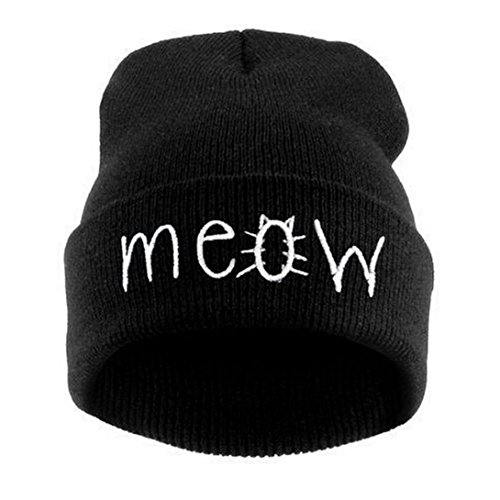 [Knitted Hat, KIOP Bandanas Winter Knitting Hat And Snapback Men And Women Hiphop Cap (Black)] (Classic Jason Costume)