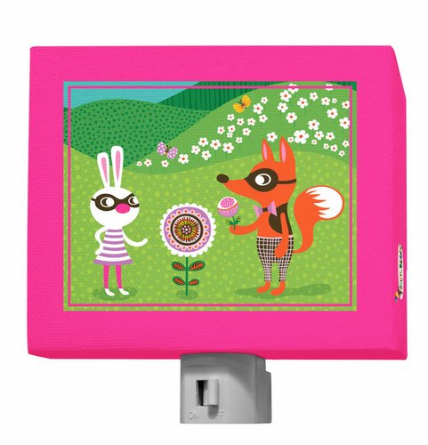 "Oopsy Daisy Funky Woodland Creatures Night Light, Girl, 5"" x 4"""