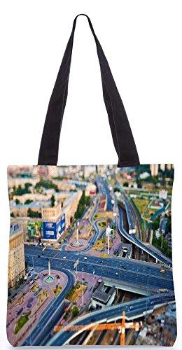"""Snoogg Zick-Zack-Straßen-Einkaufstasche 13,5 X 15 In """"Shopping-Dienstprogramm Tragetasche Aus Polyester Canvas"""