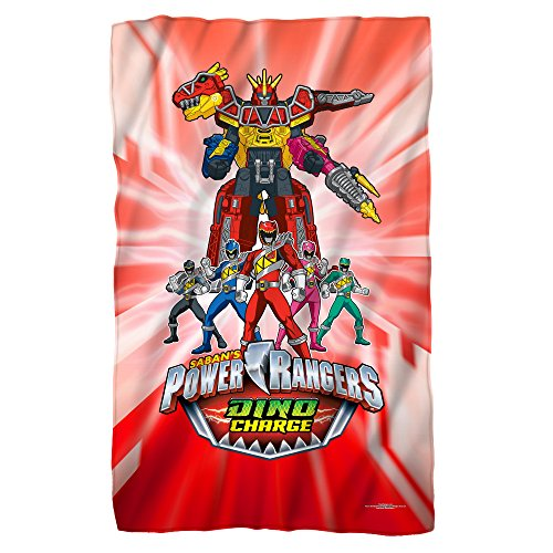 Dino Ranger -- Power Rangers -- Fleece Throw (Power Rangers Blankets)