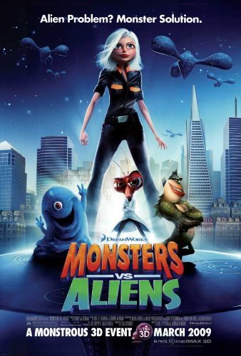 Monsters vs. Aliens POSTER Movie (27 x 40 Inches - 69cm x 102cm) (2009) (Style - Seth Style Rogen