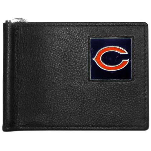 NFL Chicago Bears Leather Bill Clip Wallet (Chicago Bears Wedding)