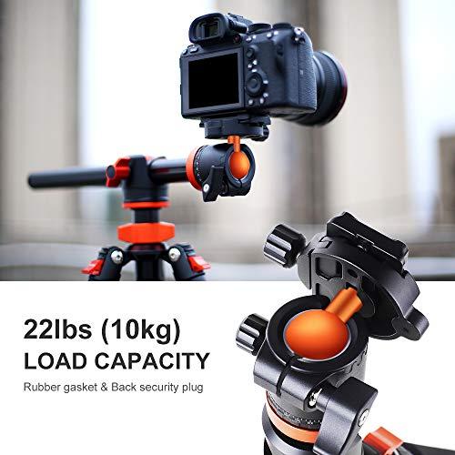 K&F Concept SA254T1 Camera Tripod 93 Inch 4 Section Aluminium Professional Detachable Monopod Tripod with 360 Degree Ball Head Quick Release Plate for DSLR SLR Camera