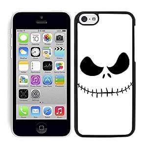 Funda carcasa para Apple iPhone 5C diseño cara pesadilla borde negro