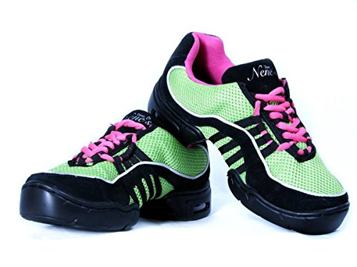 Nenes Collectie Dames Dans Fitness Schoenen Lowtop Sneakers Kiwi
