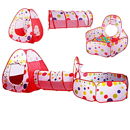 3 In 1 Children Play Tent Tunnel Play House - 6