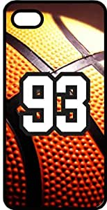 Basketball Sports Fan Player Number 93 Black Rubber Decorative iphone 4s Case