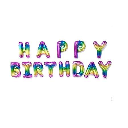 FIREYANG Decoracion 16 Pulgadas Letras Feliz Cumpleaños ...