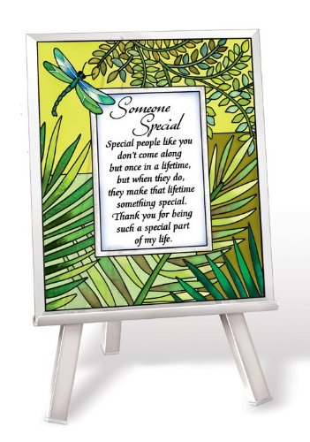 Beveled Plaque Glass (Amia 41207 Someone Special Sentiment Beveled Glass Plaque, 5 by 6-Inch)