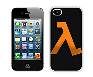 Hot Sale iPhone 4 4S Case ,Halflife Emblem Orange Background White iPhone 4 4S Cover Unique And Popular Designed Phone Case
