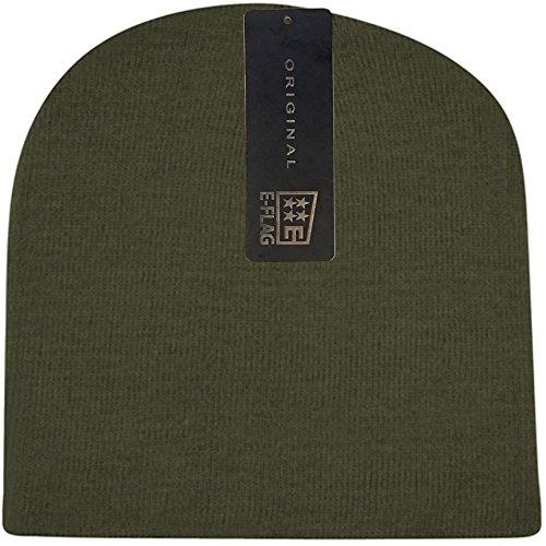 Women / Men Basic Solid Color Warm Knit Ski Snowboarding Beanie Hat (Knit Hat Olive)