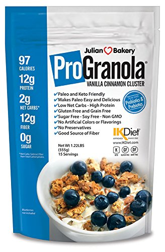 ProGranola® 12g Protein Cereal Vanilla Cinn (Paleo : Low Net Carb : Gluten Free : Grain Free) (15 Servings)