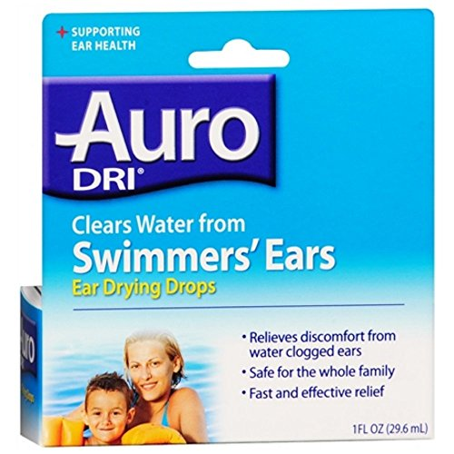 Auro-Dri Ear Water-Drying Aid 1 oz (Pack of 2) (Drops To Get Water Out Of Ear)