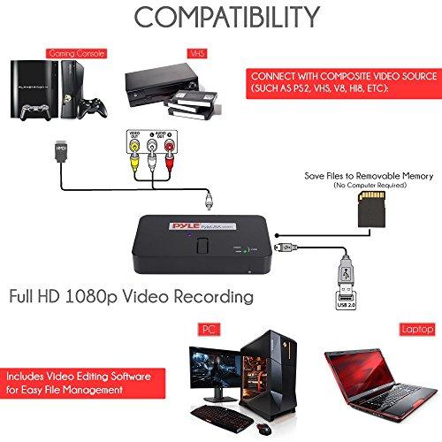 Pyle Video Game Capture Card - AV Recorder Converter, HDMI