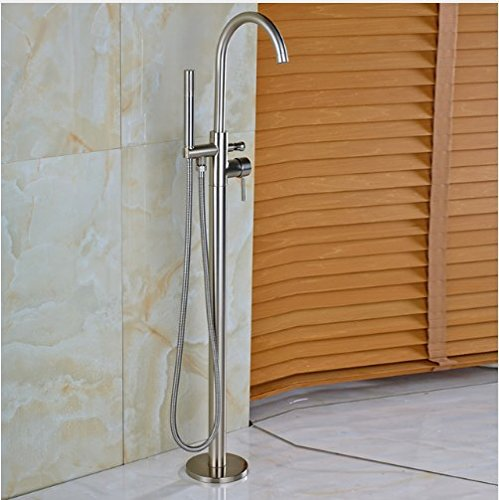 Gowe Bathtub Single Handle Mixer Faucet with Handshower Brushed Nickel (Handle Handshower Single)