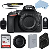 Nikon D5600 24.2 MP DSLR Camera (Body Only) Bundle includes High Speed 32GB Memory Card + Accessories