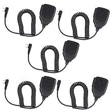 Retevis 2 Pin Handheld Remote Speaker Mic for Kenwood/Baofeng UV-5R/UV-5RA/888S Retevis H777/R888s/RT-5R/RT-6S Walkie Talkies (5 Pack)