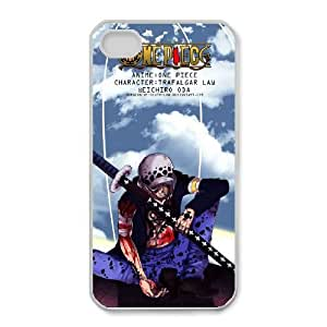Special Design Cases iPhone 4,4S Cell Phone Case White Trafalgar Law Aaosz Durable Rubber Cover