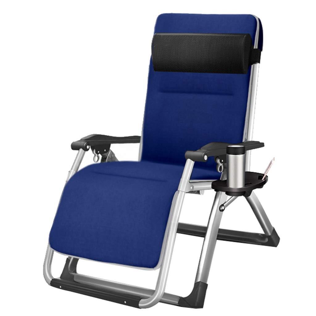 FULONG チェア リクライニングチェア折りたたみチェアガーデンチェアランチブレイクチェアレイジーチェアイージーチェア多機能調節可能サンラウンジチェア (色 : Chair+cushion 1) B07R1PJYXH Chair+cushion 1